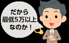 なごみギフトは最低利用額を5万円以上に設定している