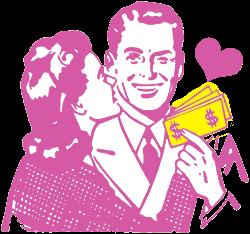 プリティウーマンのようにお金持ちと結婚する事で相手の経済力によって幸せになる