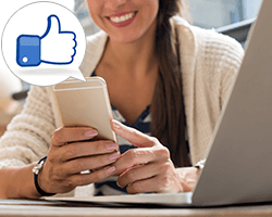 フェイスブックは海外でも人気です