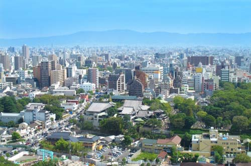 大阪生駒付近の街並み