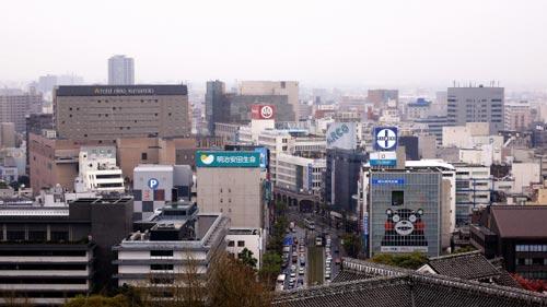 熊本市街の街並み
