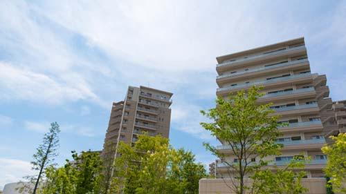 滋賀県内のマンション群