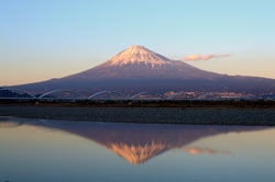 富士五湖から見える富士山