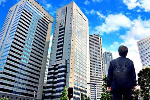 東京都心部の高層ビルなど