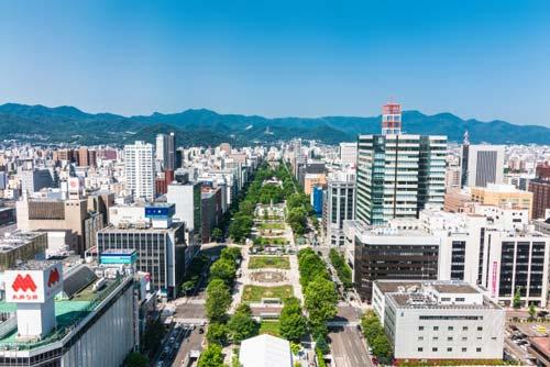 札幌の大通り公園の情景