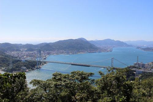 関門海峡の関門橋
