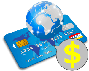 ドル決済専用クレジットカードなら両替が不要だから手数料も少額で済みますよ