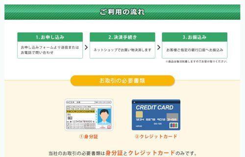 アルファプラスのクレジット現金化のご利用流れ